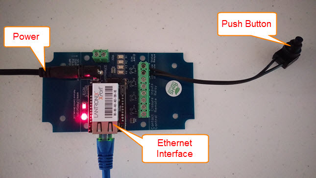 Set up Ethernet Push Notification Board with N-Button
