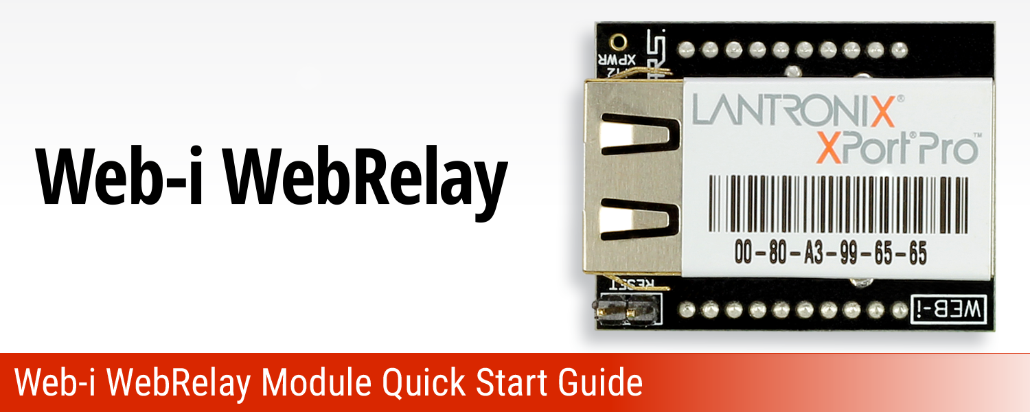 Web-I WebRelay Communications Module Quick Start Guide