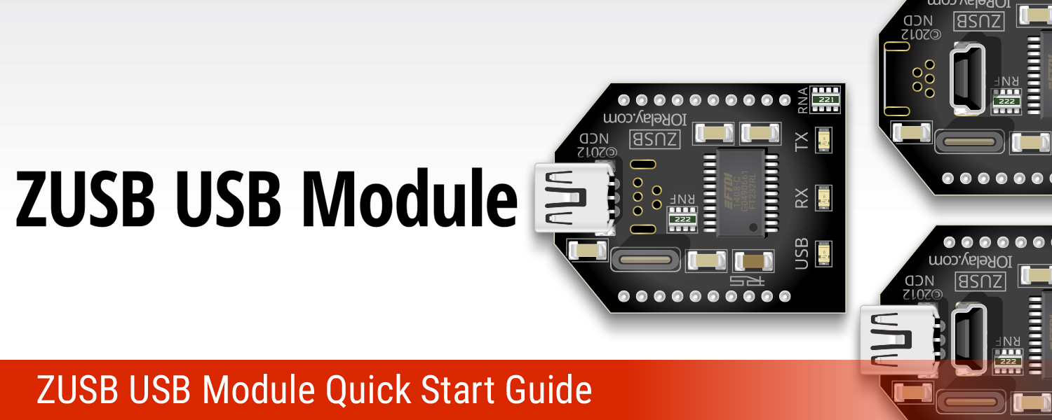 ZUSB USB Communications Module Quick Start Guide