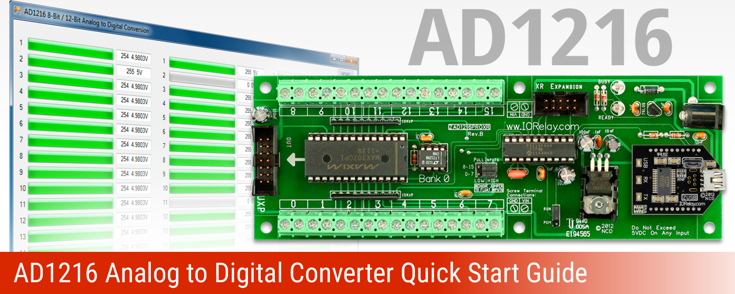 AD1216 Analog to Digital Converter Quick Start Guide
