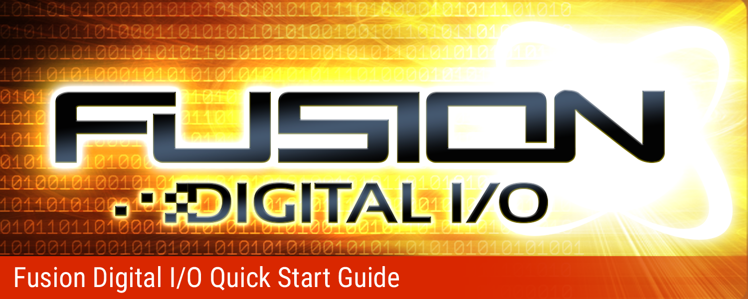 Fusion Digital I/O Quick Start Guide
