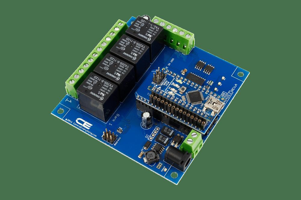 arduin i2c relay controller