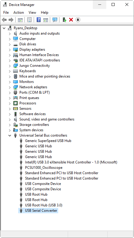 Trouble Mounting Virtual COM Port in Windows 10