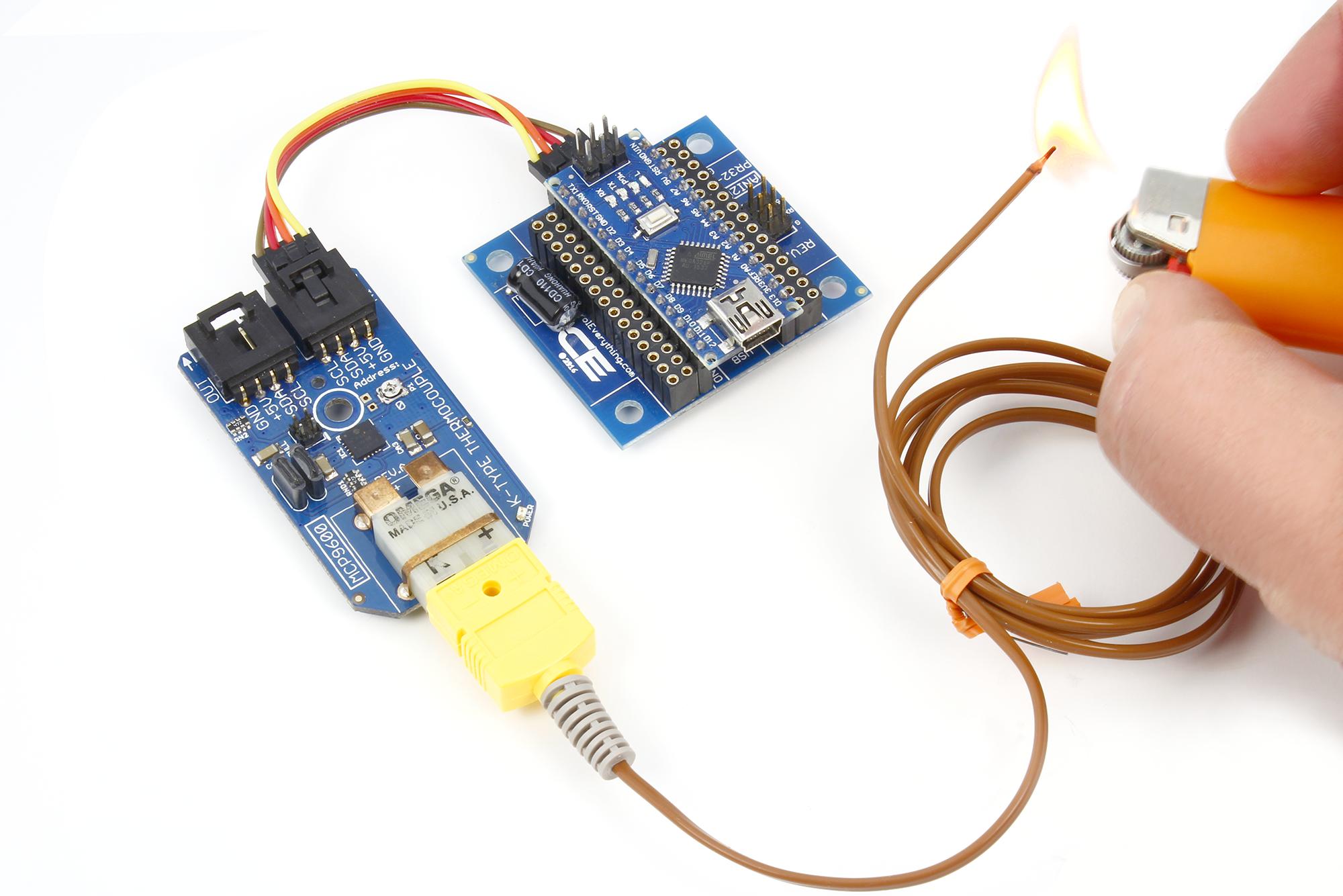 K-Type Thermocouple MCP9600 with Arduino