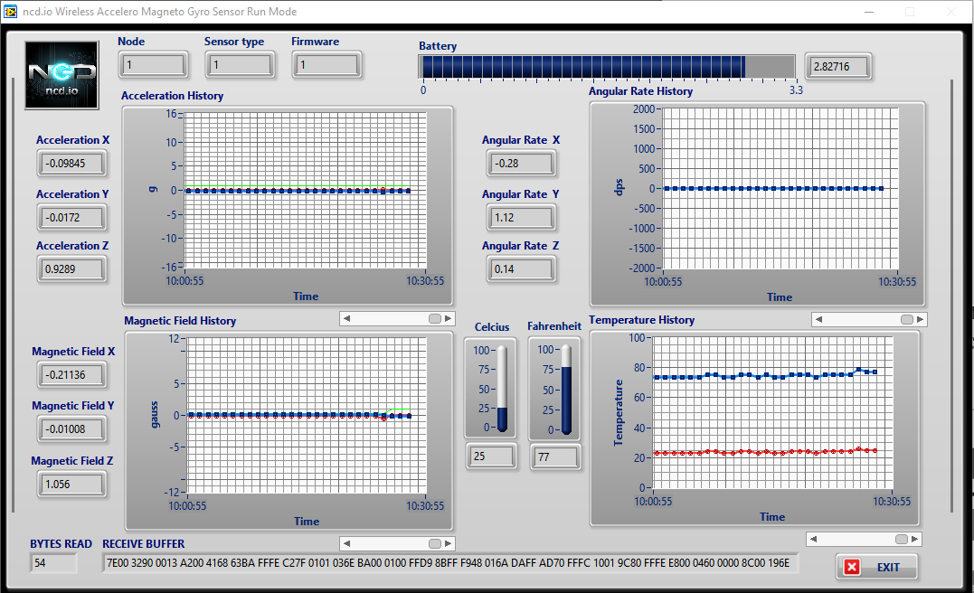 wireless accelro Labview