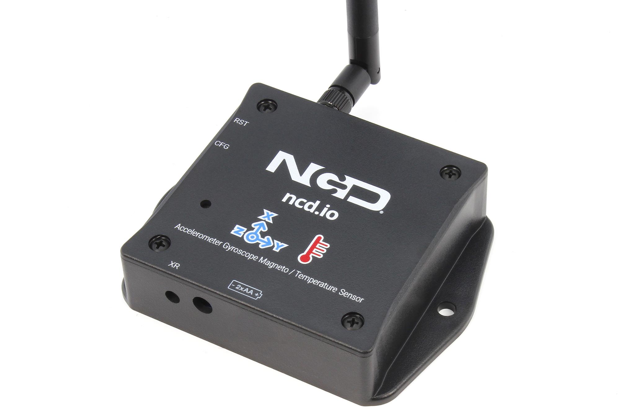 Long Range Wireless Accelerometer Gyro Magneto Temperature Sensor