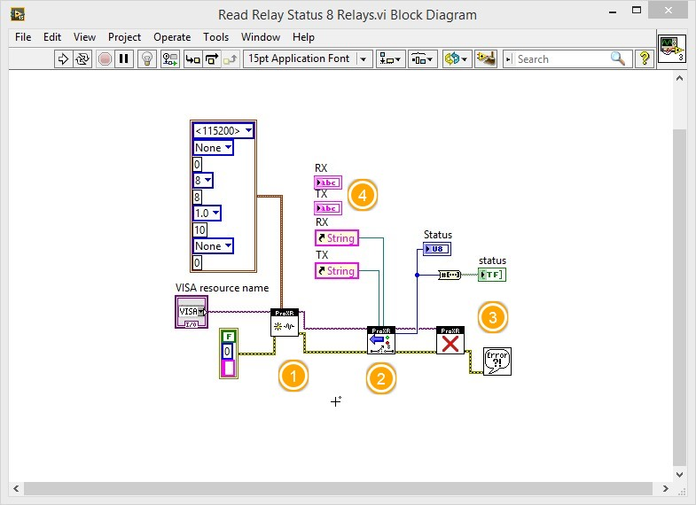 LabVIEW Relay switching and Status acquisition 2