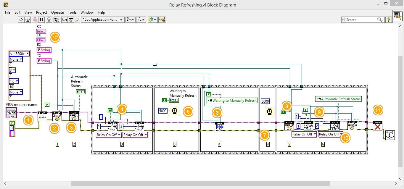 LabVIEW Relay controller Basic Configuration