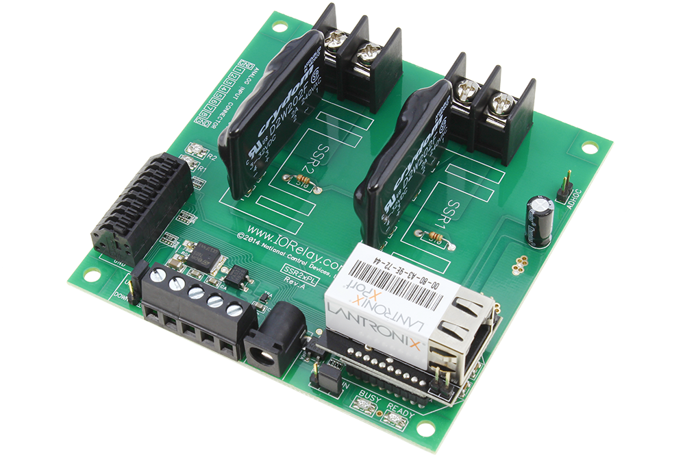 Ethernet Relay 2-Channel Solid State