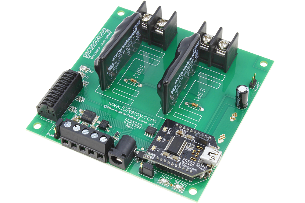 USB Relay Controller 2-Channel Solid State Relays