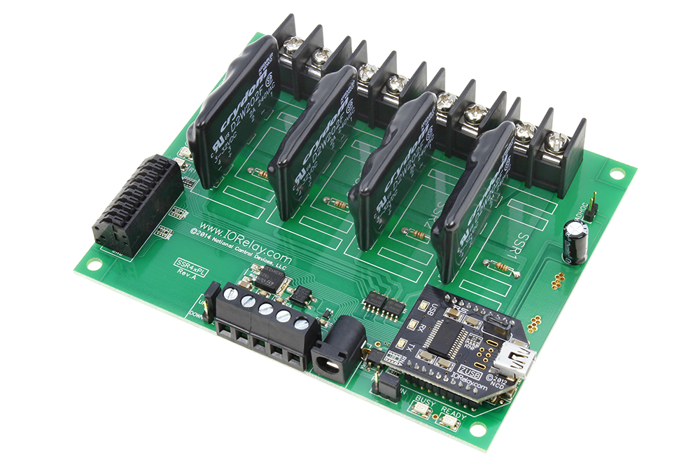 USB Relay Controller 4-Channel Solid State Relays