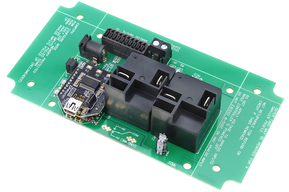 USB Relay Controller 2-Channel High Current with ADC