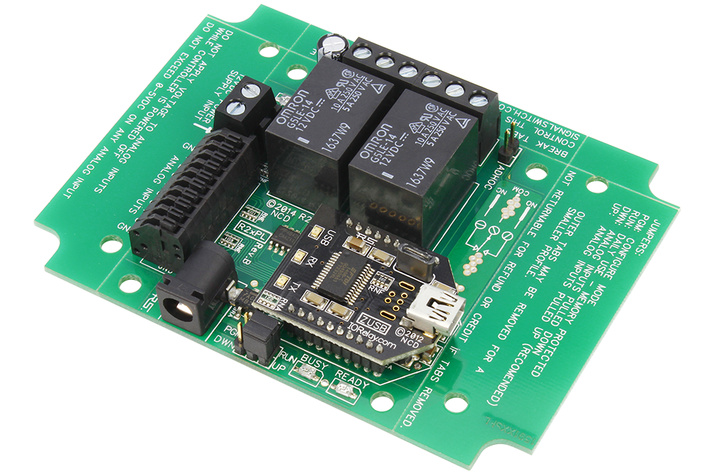 USB Relay Controller 2-Channel with ADC