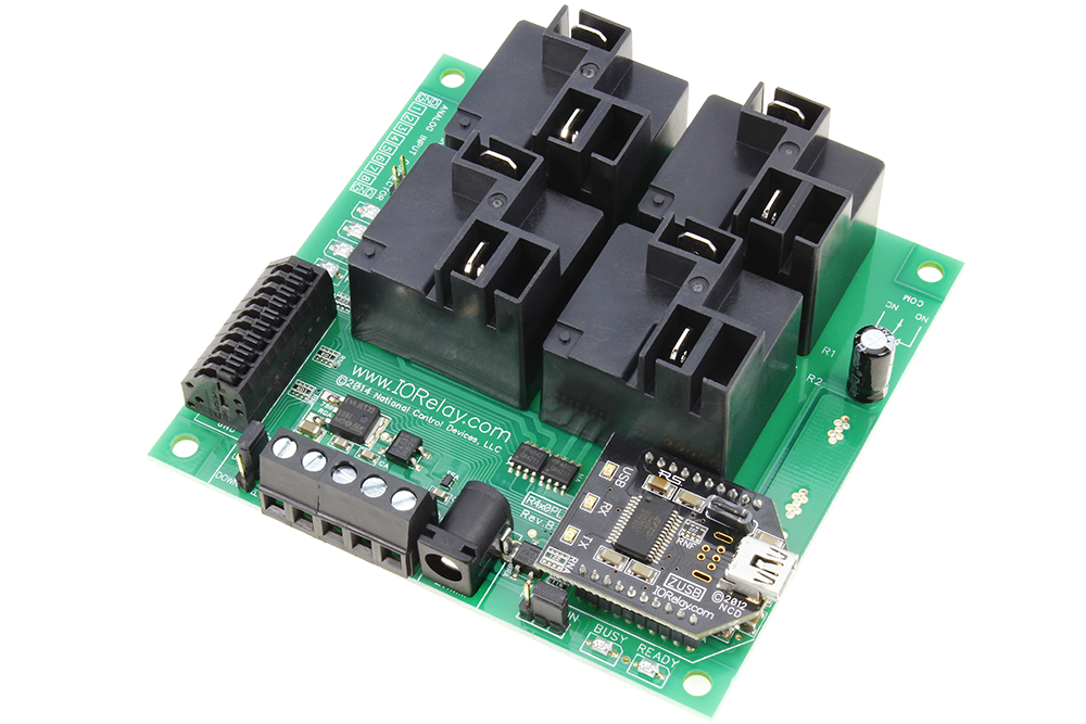 USB Relay Controller 4-Channel High Current with ADC