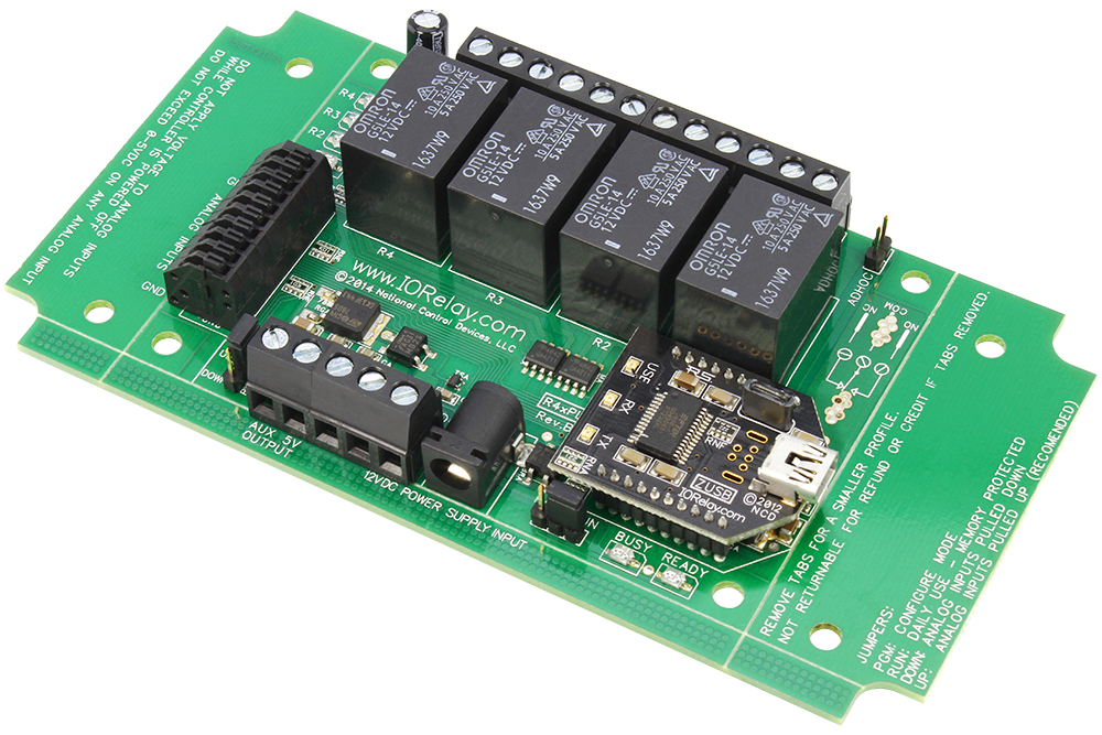 USB Relay Controller 4-Channel with ADC