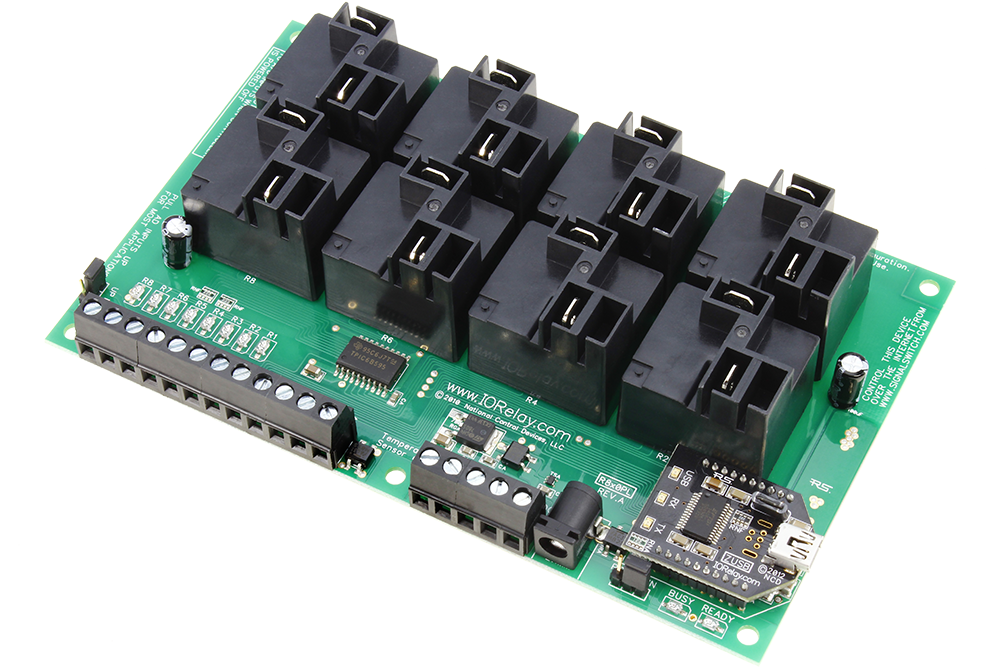 USB Relay Controller 8-Channel High Current with ADC