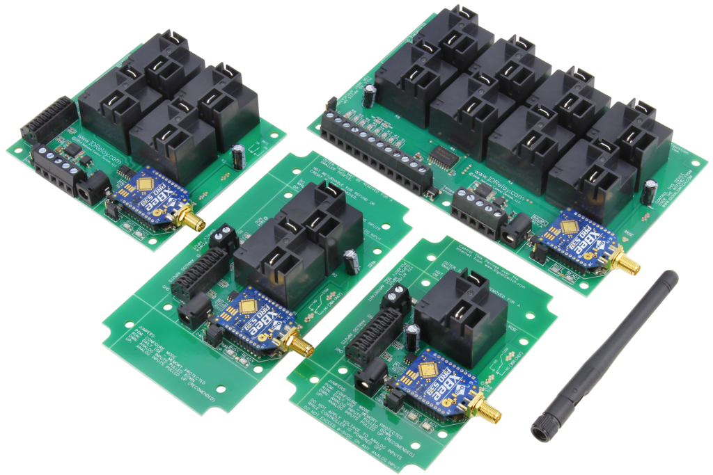long range wireless high power relay controllers