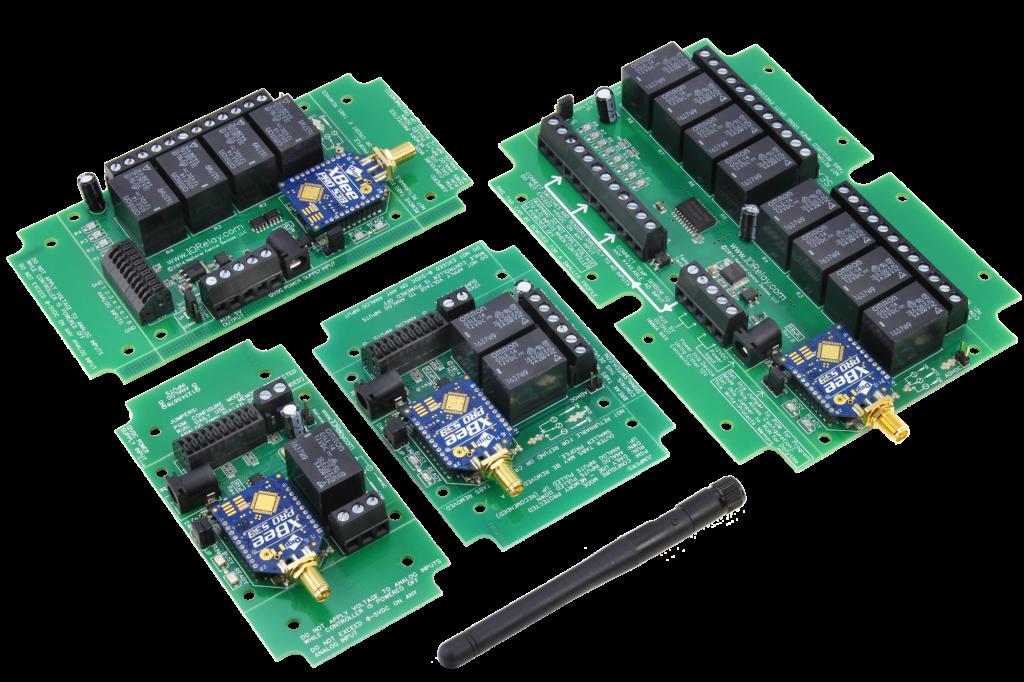 long range wireless relay controllers