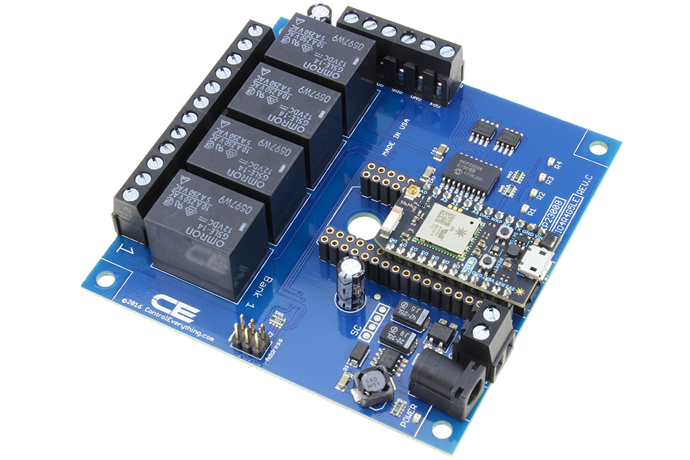 WiFi Relay Cloud Controlled 4-Channel SPDT with 4-Channel GPIO