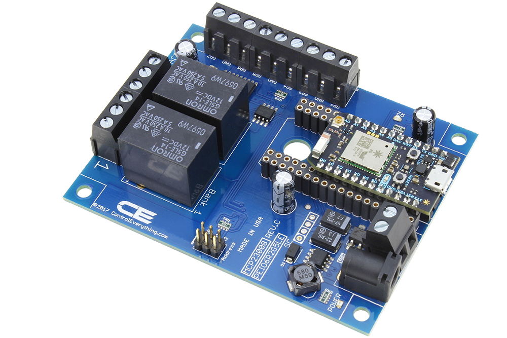 WiFi Relay Cloud Controlled 2-Channel SPDT with 6-Channel GPIO