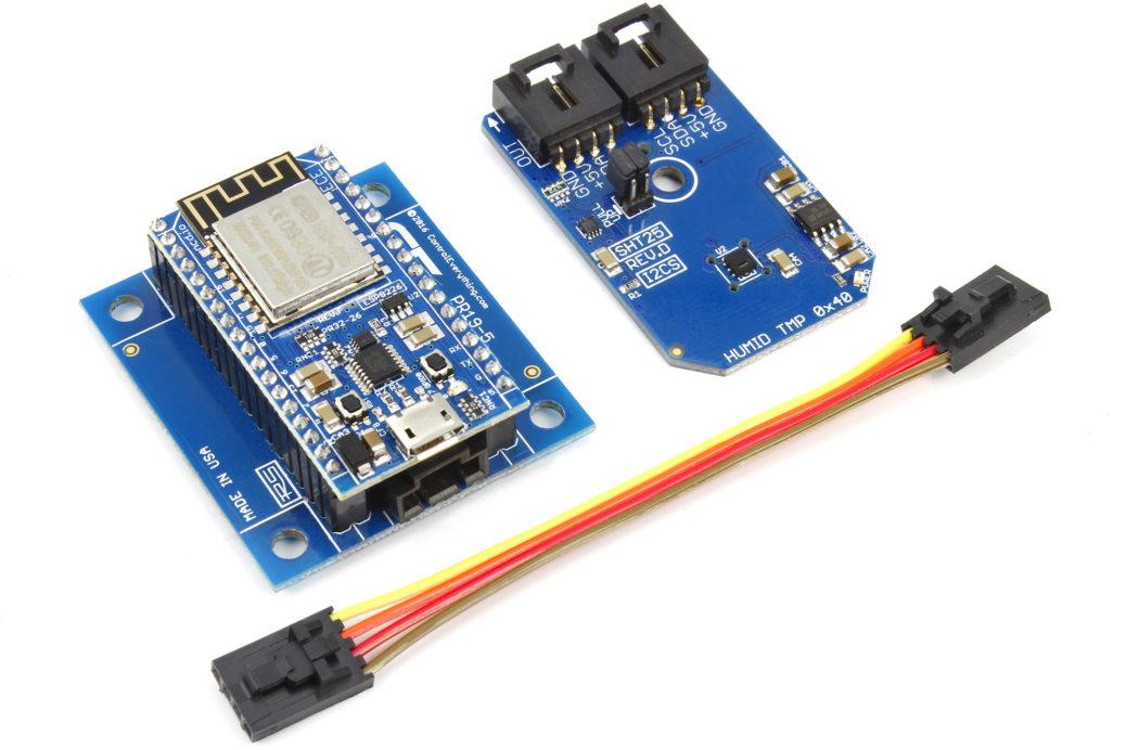 temperature humidity sensor web app using ESP8266