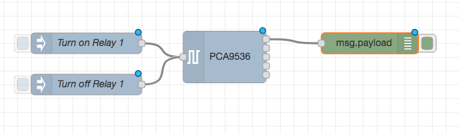 PCA9536 Node Red Flow