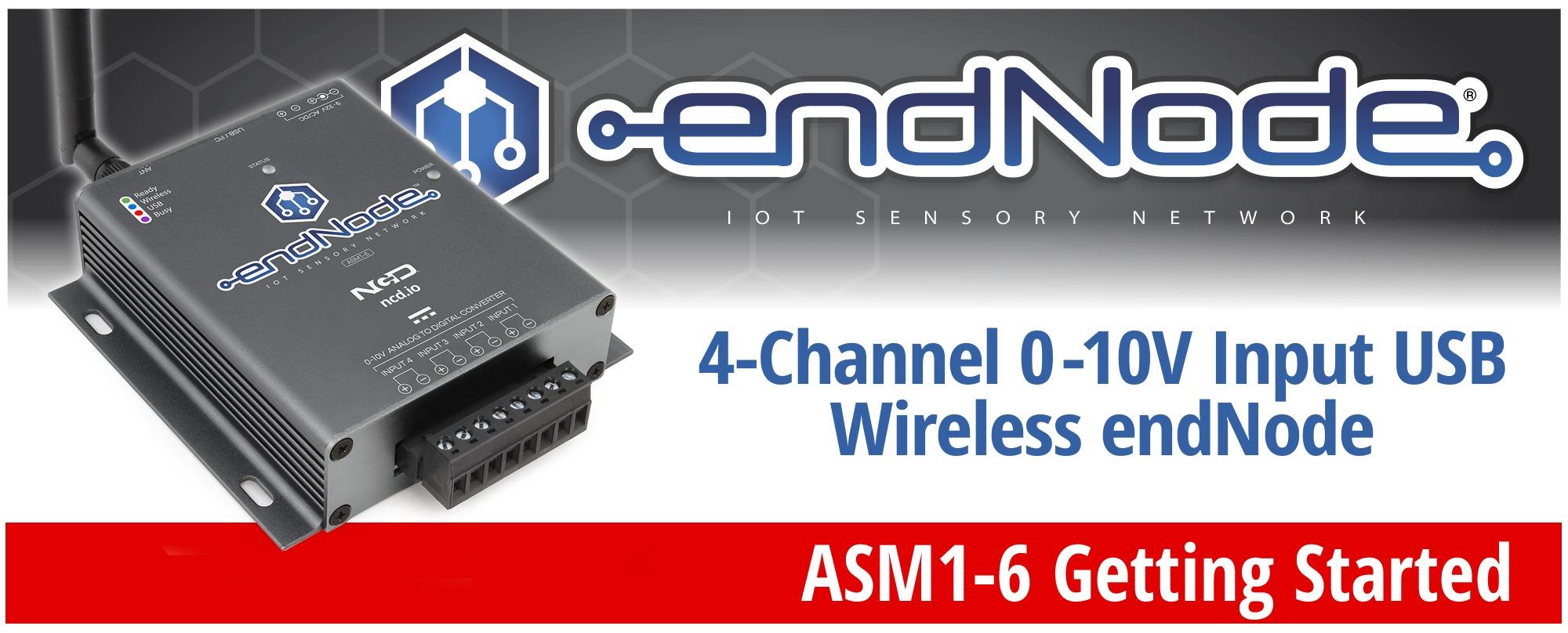 4-Channel 0-10V Input USB Wireless endNode Getting Started