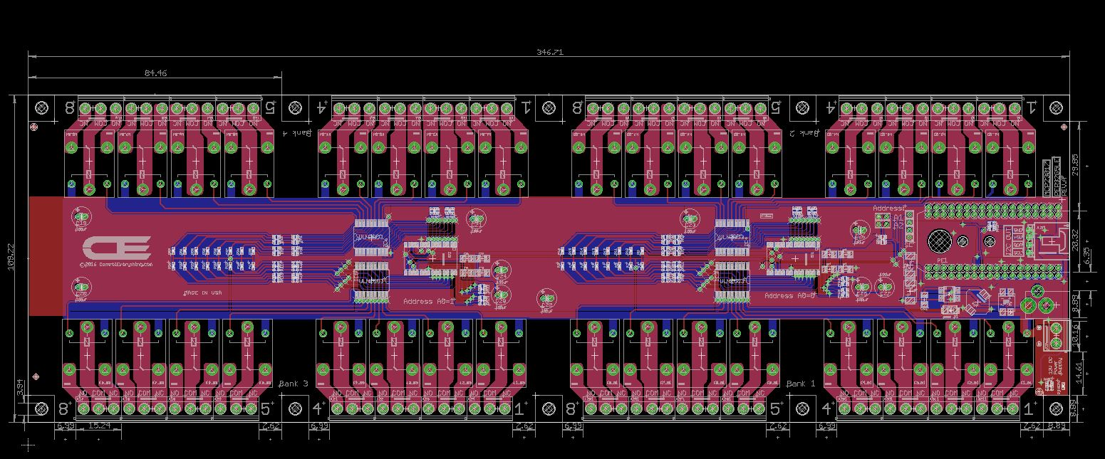 32 Channel General Purpose Spdt Relay Shield With Iot