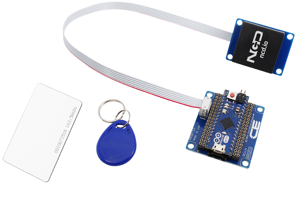 Arduino Micro RFID Receiver and I2C Adapter with UART Interface -  store ncd io