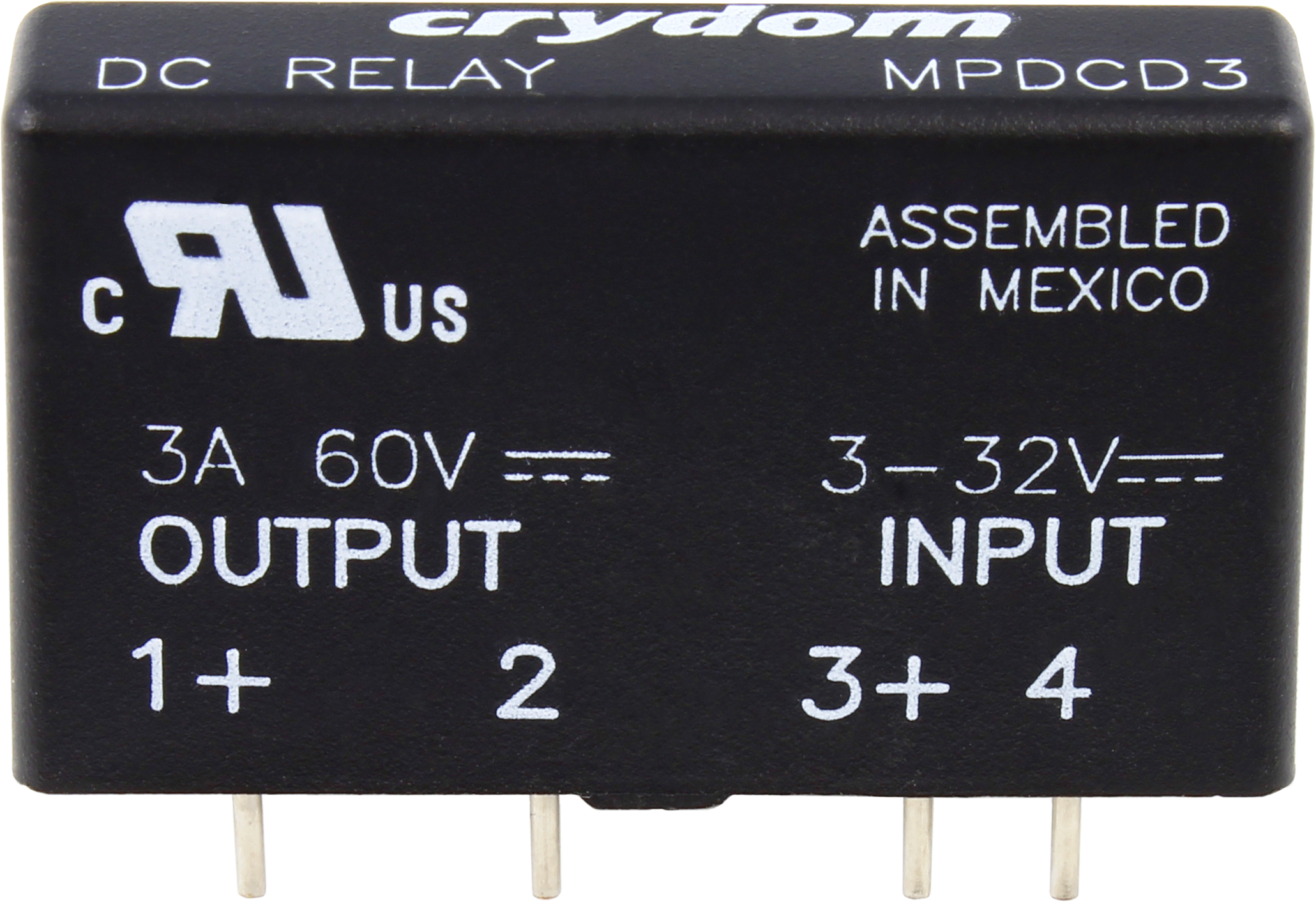 Crydom MPDCD3 3A@60VDC DC Solid State Relay (Type F)