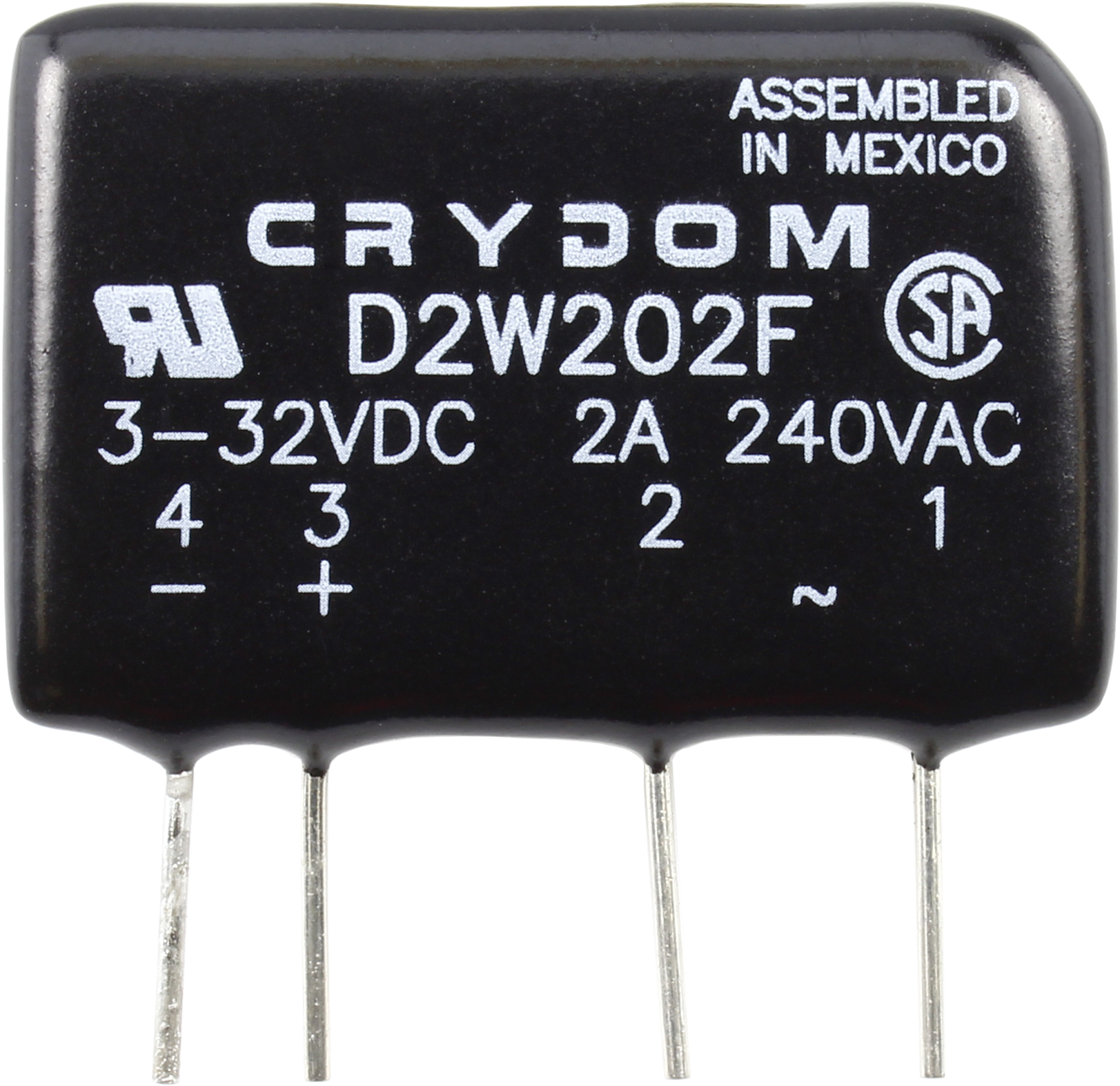 Crydom D2w202f 2a 240vac Zero Cross Solid State Relay For Resistive Ac Please