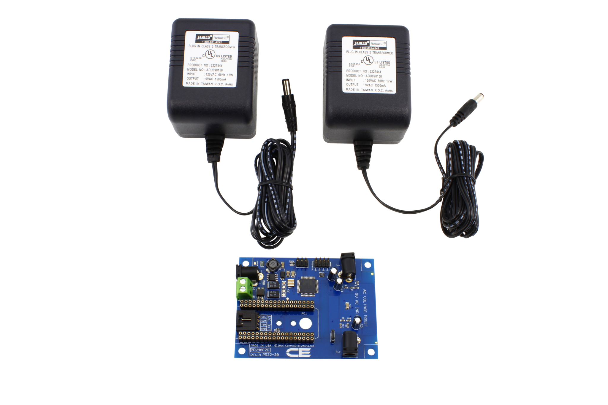 Dual 120vac Mains Voltage Monitor With Iot Interface Wiring A Plug 2 Channel Ac Monitoring Controller