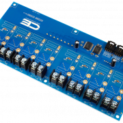 Solid-State Relay Shield Cross-Planform I2C 8-Channel SPST Host Controller