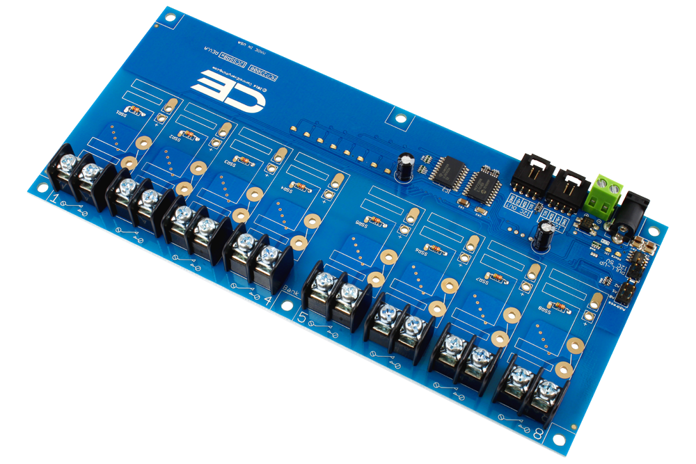 8Channel Solid State Relay Controller with I2C Interface storencdio