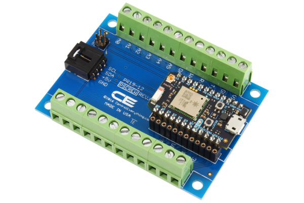 Particle Photon Breakout Board with Screw Terminals and I2C Port