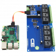Raspberry Pi 2 Relay Shield I2C 10-Amp 8-Channel