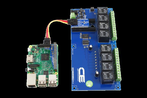 Raspberry Pi 2 Relay Shield I2C 10-Amp 8-Channel