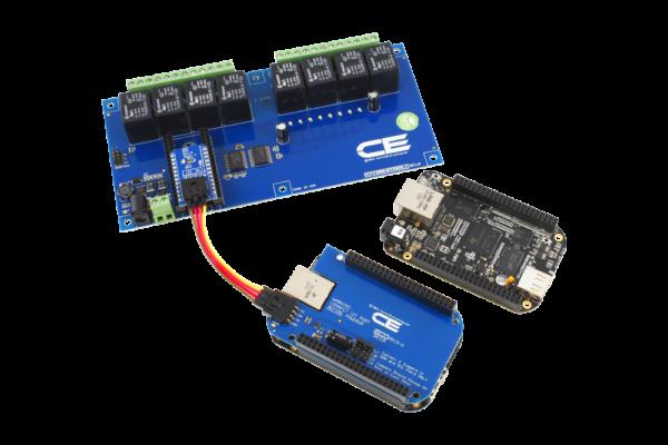 BeagleBoard Relay Shield I2C 10 Amp 8-Channel