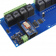 Relay Shield for Particle Electron I2C 8-Channel SPDT 10-Amp with Cellular and USB Interface