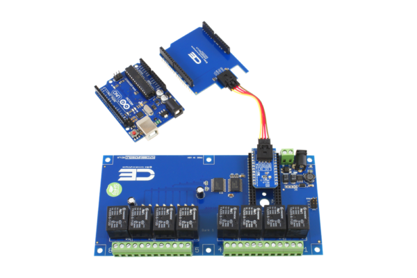 Use the SI Adapter to Convert Relay Shield to I2C Interface