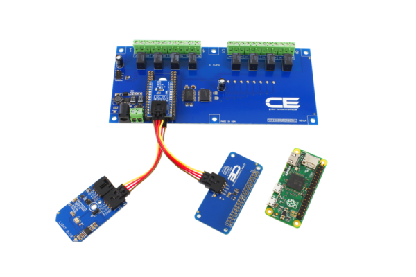 Raspberry Pi Zero I2C Expansion Relay Shield 8-Channel 1-Amp SPDT