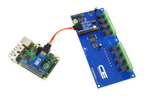 Raspberry Pi 3 I2C Expansion Relay Shield 8-Channel 1-Amp SPDT