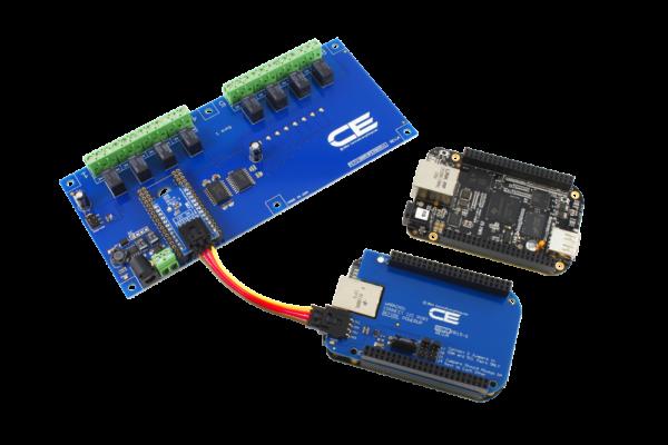 BeagleBone I2C Expansion Relay Shield 8-Channel 1-Amp SPDT