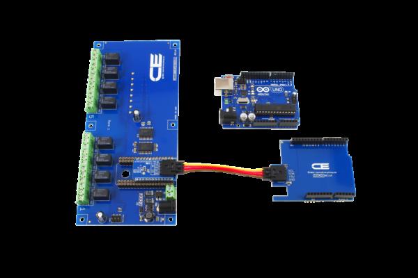 Uno Relay Shield I2C 1-Amp 8-Channel
