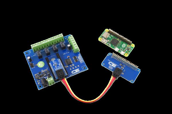 Raspberry Pi Zero I2C Expansion 4-Relay Shield with 4 GPIO