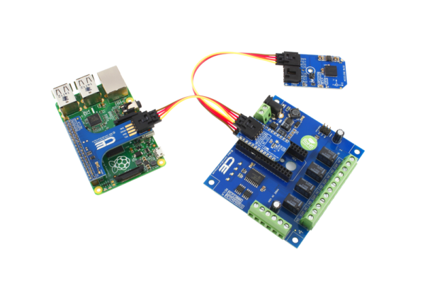 Raspberry Pi 3 Accelerometer and I2C Relay Shield with GPIO