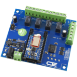Relay Shield for Particle Electron I2C 4-Channel SPDT 1-Amp Signal Relay with Cellular and USB Interface + 4 Programmable GPIO