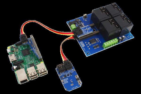 Raspberry Pi 3 Temperature Sensor and High-Power Relay Shield