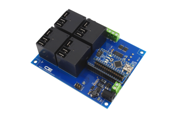 Arduino Nano High-Current 4-Channel Relay Shield using AN Adapter