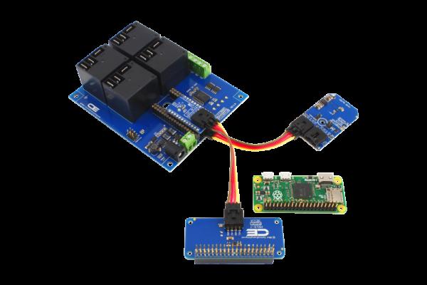Raspberry Pi Zero Relay Shield and Temperature Sensor